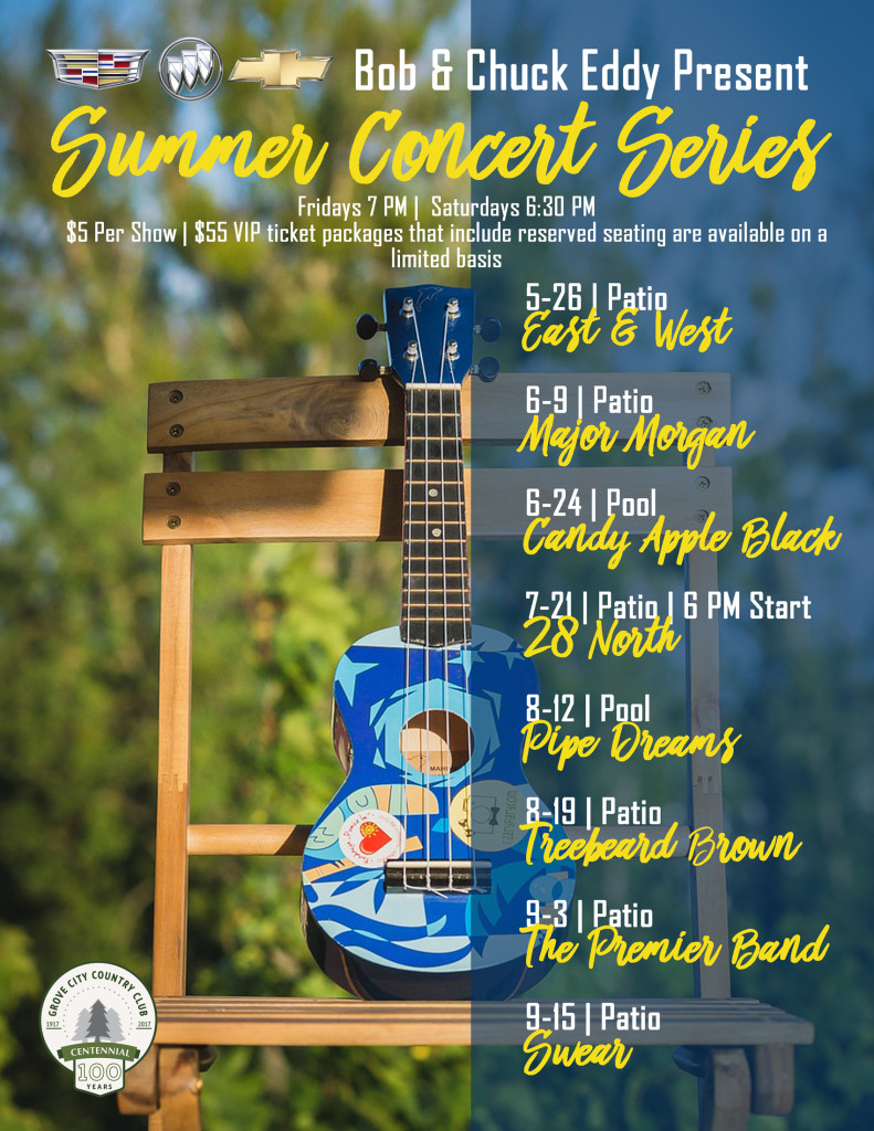Summer Concert Series - Treebeard Brown @ Club House Patio